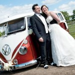 Georgie & Will with Scooby on there big day