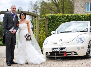 Kirsty & Neil enjoying Poppy Bug on there big day_